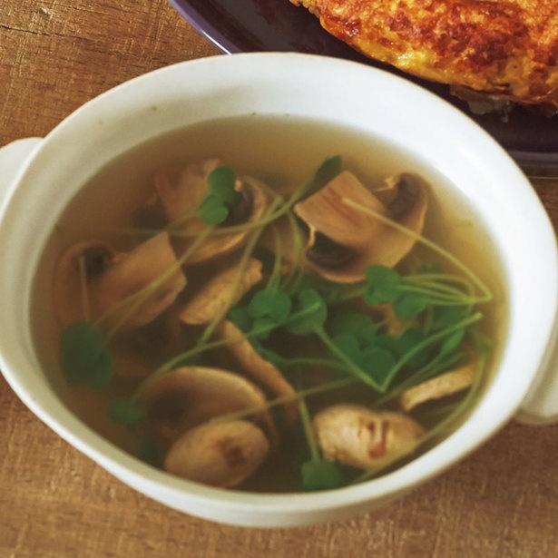 「マッシュルームの中華スープ」