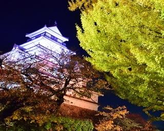 鶴ヶ城と紅葉の幻想的な美しさを堪能!福島県会津若松市「鶴ヶ城紅葉ライトアップ」