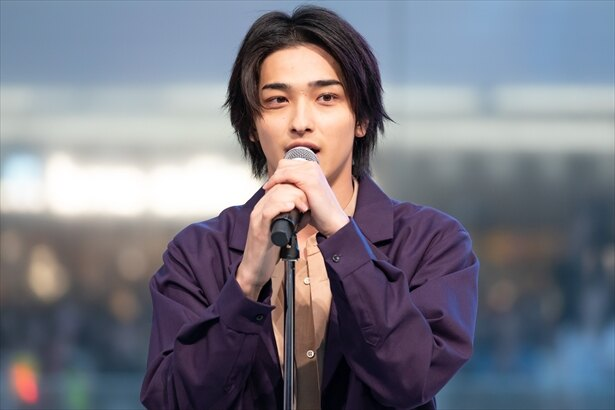 横浜流星が都内でCDデビュー記念イベントを行った