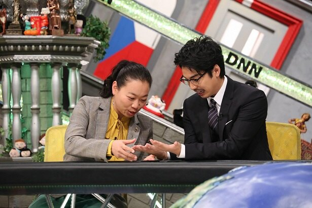 10月12日(金)の「全力!脱力タイムズ」(フジテレビ系)にゲスト出演するいとうあさこ(左)と大野拓朗