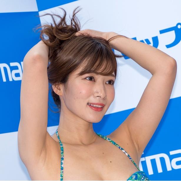 石岡真衣DVD「ボクの最高な彼女」(ギルド)発売イベントより