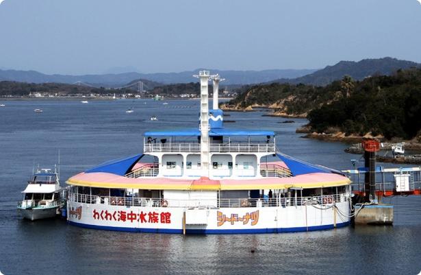 日本で2つしかない、海に浮かぶ水族館