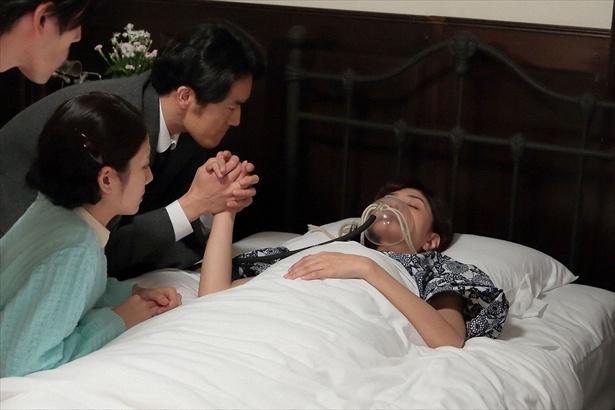 最期のシーンで感情をあらわにする夫・真一(大谷亮平)にも共感の声が集まった