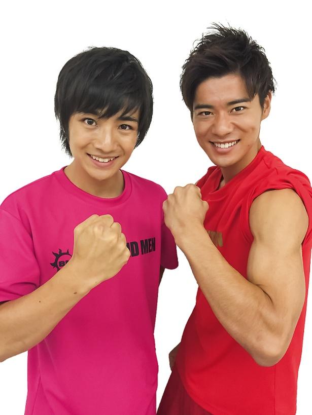 「Nスポ!名古屋応援団」に就任した本田剛文(左)と辻本達規(右)