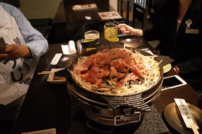 ジンギスカン鍋が北海道の形でした