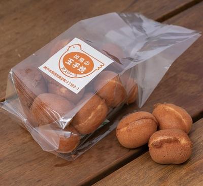 「加島の玉子焼(カステーラ)」。絶妙な焼き加減で、冷めてもおいしいと評判のひとくちカステラ(16個入り)500円