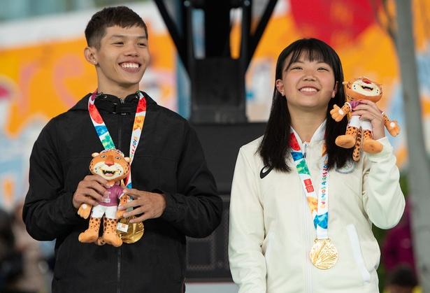 金メダルコンビ、B4(写真左)とRam