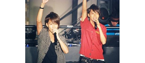 ドラマから生まれた天野、真山、万平、心平によるユニット「INDIGO4」がデビュー曲を披露した
