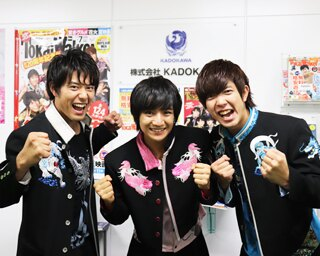 BOYS AND MENの勇翔(左)、本田剛文(中央)、田村侑久(右)が編集部にやって来た!