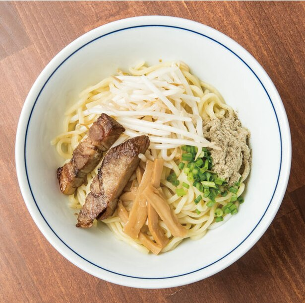 小倉油麺専門 山希 / 「油そば(並)背脂」(700円)