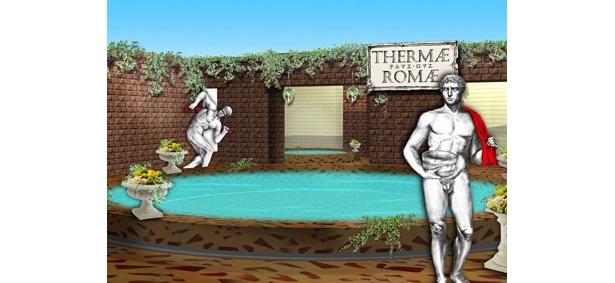 """あの人気漫画の""""古代ローマ風呂""""が現実のものに!"""