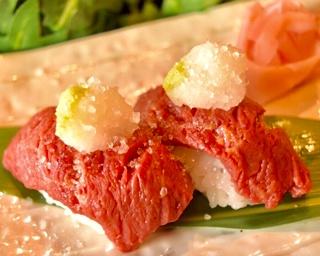熊本産馬肉の肉寿司「塩ヘレ」(クーポンチケット1枚)
