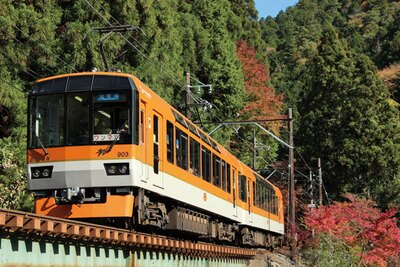 紅葉をゆったり楽しみたいなら平日がおすすめ/叡山電車きらら (叡山電車鞍馬線)