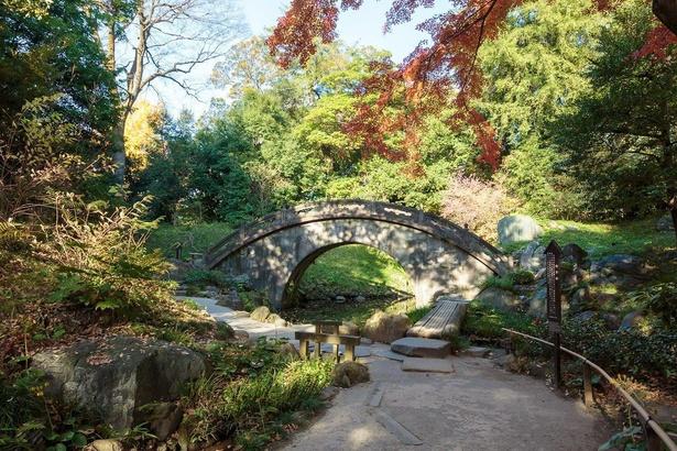 円月橋の名前は、水面に映る様子と合わせると、満月のように見えることに由来する