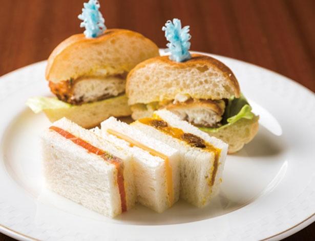 ひと口サイズのサンドイッチも注目/帝国ホテル 大阪 ザ パーク