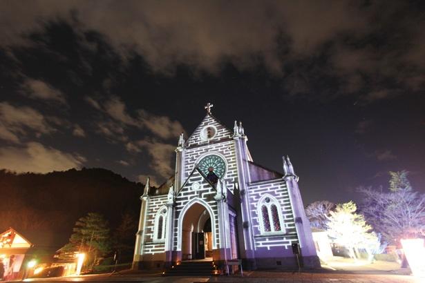 【写真を見る】聖ザビエル天主堂で行う「プロジェクションマッピング~和の彩り~」