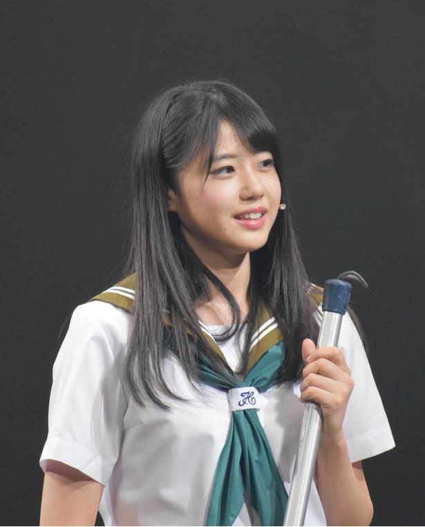 日替わりゲストとして出演した瀧野由美子さん(STU48)/舞台「マジムリ学園」ゲネプロより