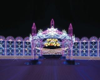 飛行機をバックに楽しむ聖堂イルミ!中部国際空港がクリスマス一色に染まるイベント開催