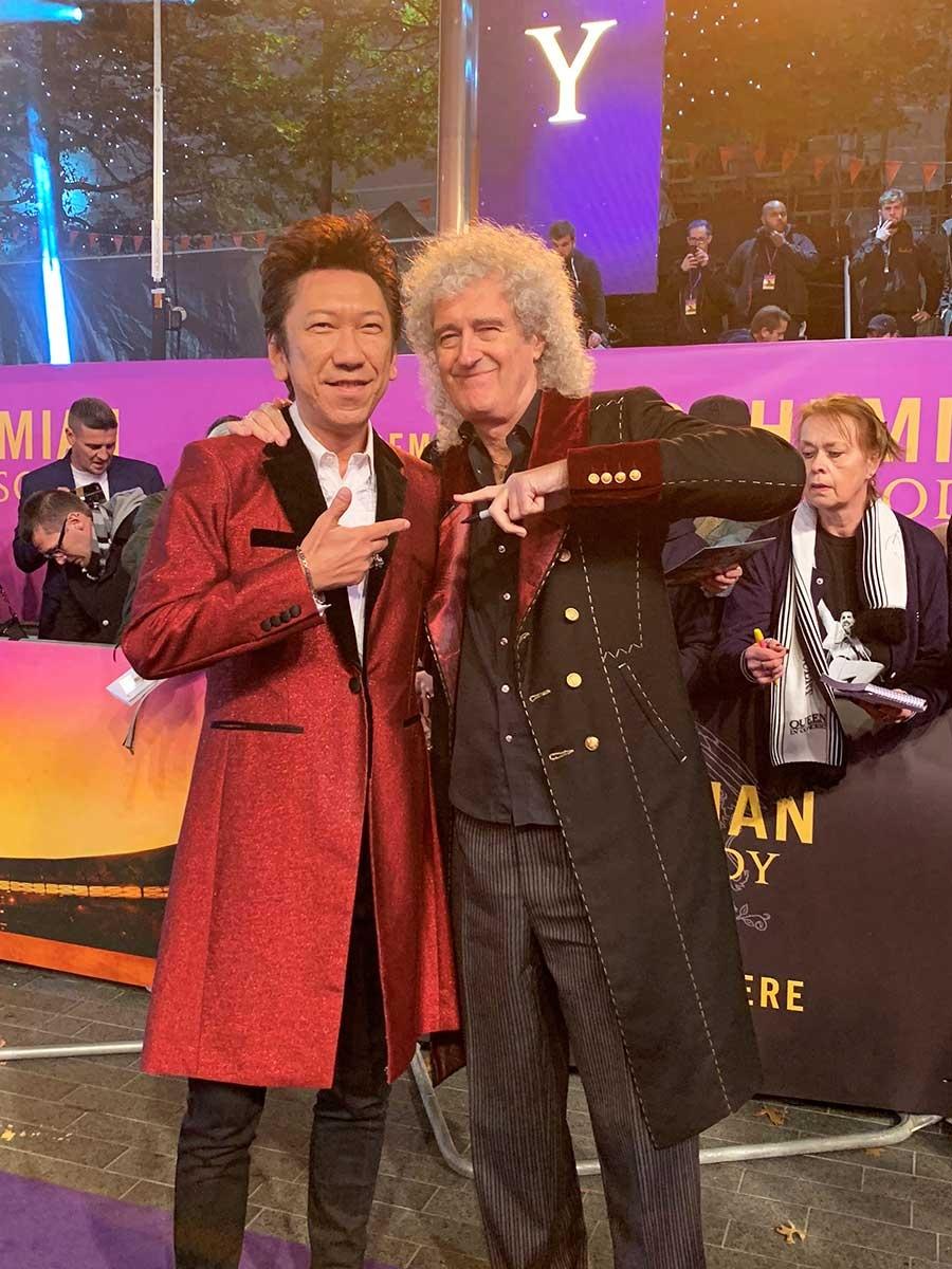 【写真を見る】日本代表の布袋寅泰がブライアン・メイと久々の対面!