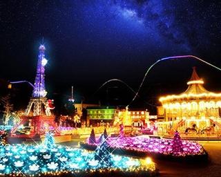 リサとガスパール タウンに冬の夜を彩る光の花畑が登場!