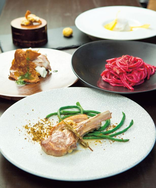 前菜からデザートまで楽しめるランチコース(3240円)/ABITACOLO