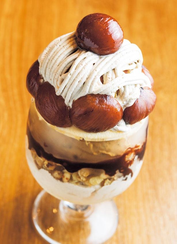 栗がゴロゴロ入った贅沢な秋の味!Drip-X-Cafe  ホテルヴィスキオ大阪店の秋限定パフェが見逃せない!