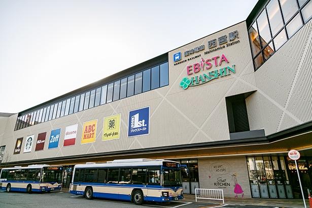 阪神電鉄 西宮駅直結で便利。リニューアルにより店舗数も大幅に増えた