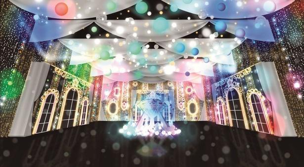 50万球のフルカラーLEDで装飾した世界最大級の「光のプレゼントBOX」