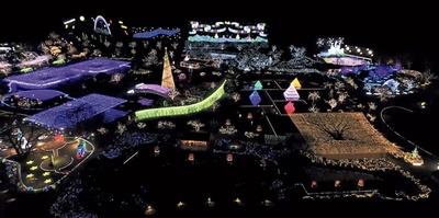 広大なあしかがフラワーパークの敷地に広がる「光の花の庭」