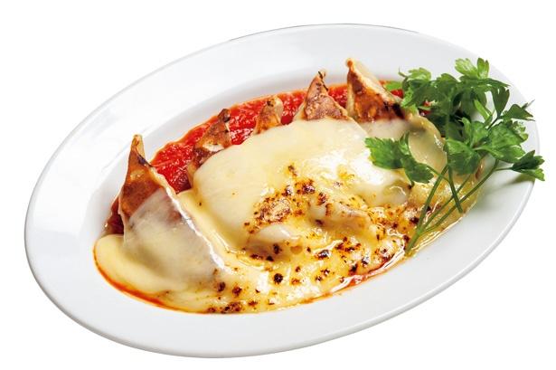 ラクレットチーズをたっぷり絡めて食べよう!「ラクレットチーズ餃子」(5個928円)/「棚橋餃子バル 三代目 憲二郎」(名古屋市中村区)