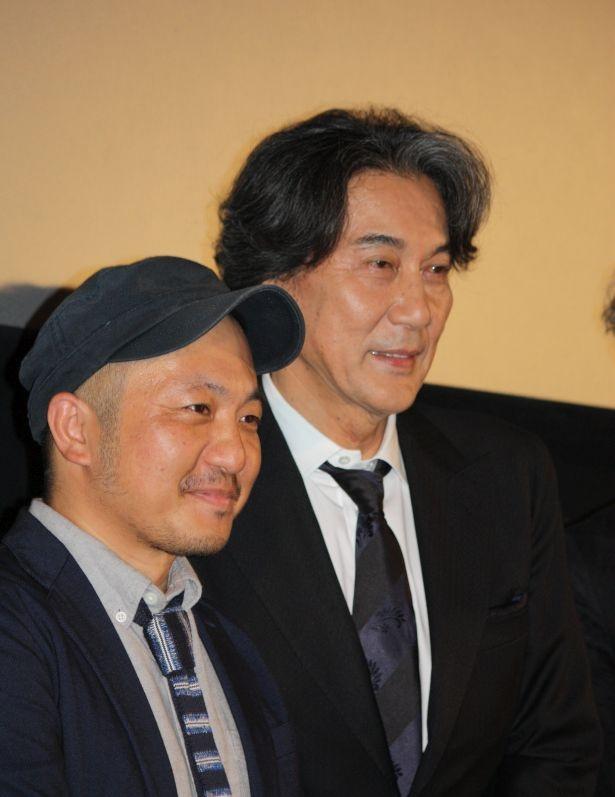 映画「孤狼の血」の上映とQ&Aが実施され、主演の役所広司と白石和彌監督が出席