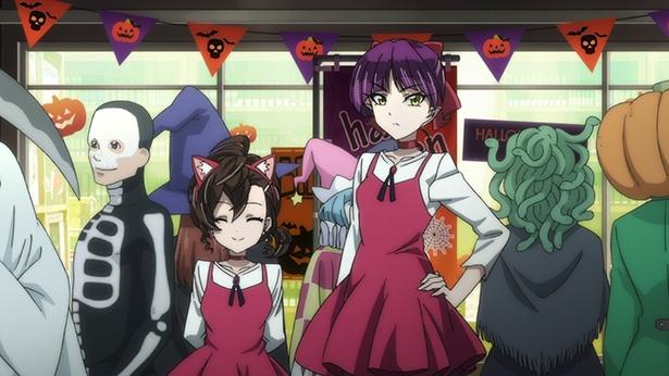 「ゲゲゲの鬼太郎」第30話の先行カットが到着。まながねこ娘をハロウィンパーティにお誘い!?
