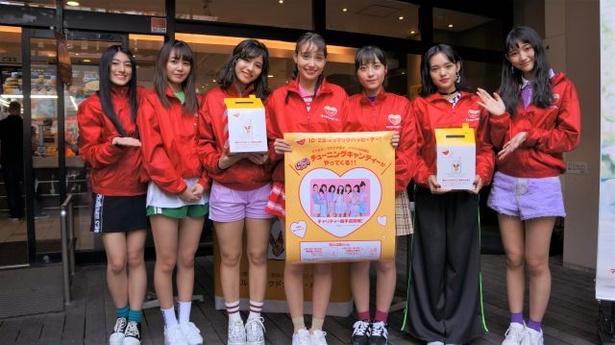 地元沖縄で募金活動を行なうChuning Candy
