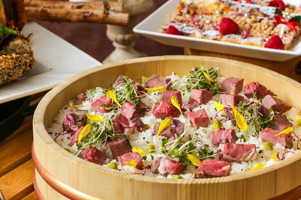 クリスマス期間限定の「ローストビーフ散らし寿司」
