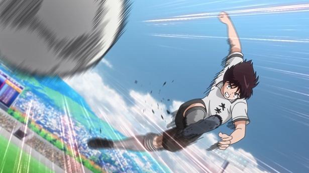 「キャプテン翼」第31話の先行カットが到着。新田がランニングボレー隼シュートに挑むが!?