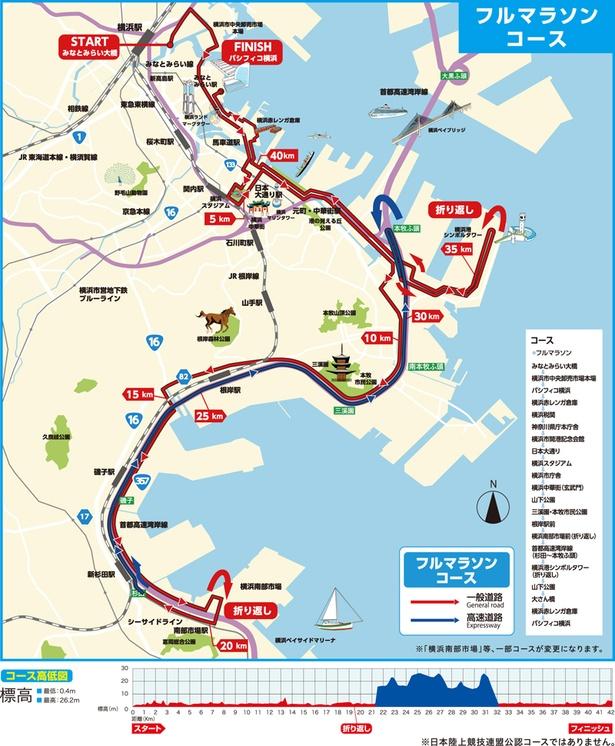 横浜マラソン2018コースMAP
