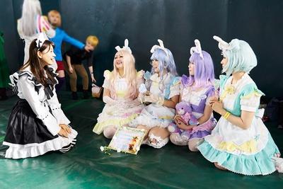 福岡市内からの参加という、かわいい4人のレイヤー嬢たち