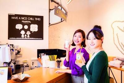 ピーナッツの仲間たちがあちこちに/PEANUTS Cafe 神戸