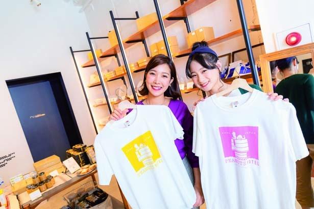 PEANUTS HOTELオリジナルTシャツ(3132円)など、神戸店限定グッズも店内で販売/PEANUTS Cafe 神戸