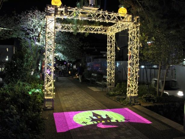 宝塚 花のみちでライトアップが開催中!