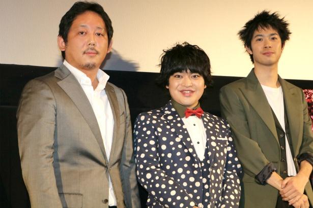 『ギャングース』の加藤諒、渡辺大知、入江悠監督が舞台挨拶に登壇