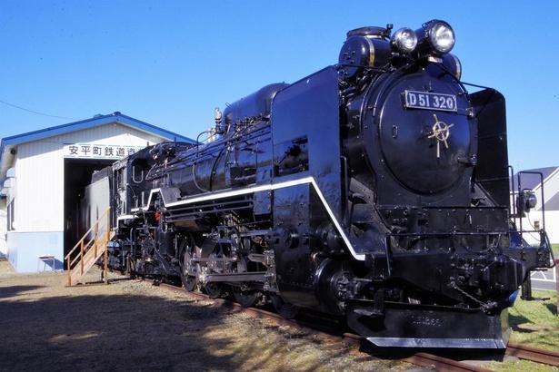 追分駅近くにある「安平(あびら)町鉄道資料館」に展示されていたSL。2019年春からは新たにできる「道の駅 あびらD51(デゴイチ)ステーション」で展示されます