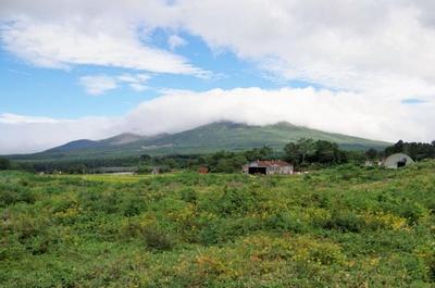 この日は山頂に雲がかかっていました。残念!