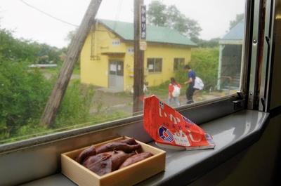 森駅で買ったいかめしを食べながら普通列車の旅を満喫