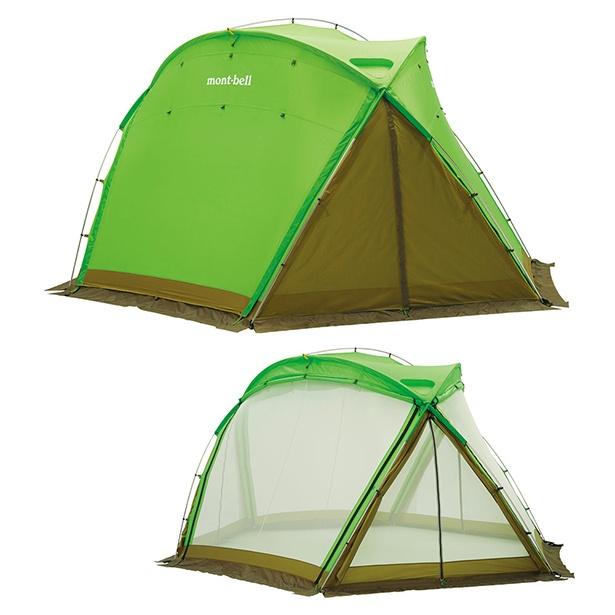 mont-bellのドーム型自立式タープ「アストロドーム」(税抜7万9000円)。別売りのインナールームを取り付ければテントとしても使用できる