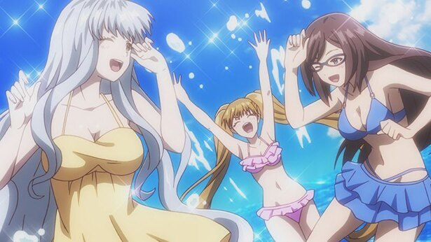 「あかねさす少女」第6話の先行カットが到着。海に辿り着いたラヂ研のメンバーは水着で!?