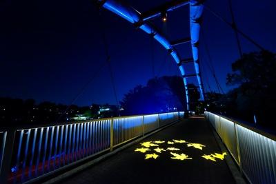 割岩橋のライトアップ