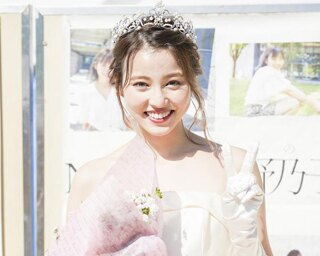 「Miss&Mr Fukudai Contest」のファイナリストに選ばれた美女。エントリーNo.1、商学部商学科3年の江藤由羽さん