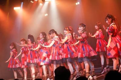 NMB48劇場で出張公演を開催したNGT48チームNⅢ