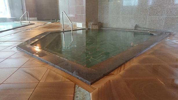 ゆもと登別の含鉄泉(ゆもと登別では酸性鉄泉と呼ばれています)